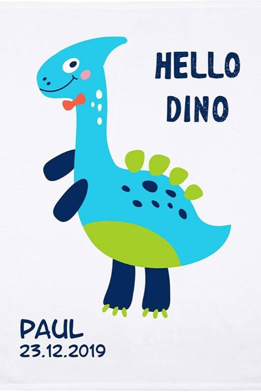 Babydecke mit namen Dino