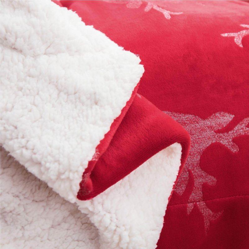 Couchdecke Weihnacht Rot Hirsch