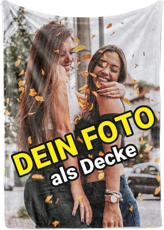 Kuscheldecke mit Foto selbst gestalten von Carpezz