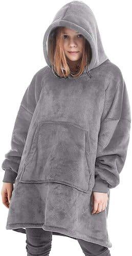 Segorts Oversized Blanket Sweatshirt - Winter Sherpa Giant Hoodie Reversible mit Überwurf