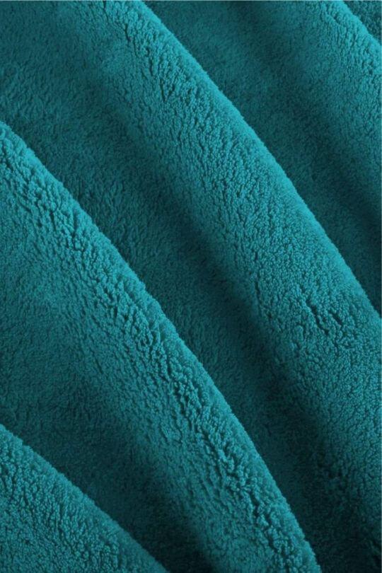 Wohn-Decke Tagesdecke Flanell Mikrofaser Flausch Türkis