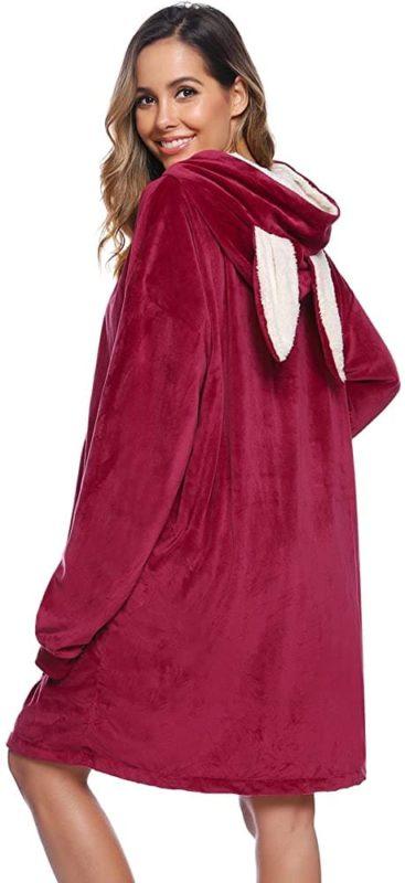 iClosam Übergroße Hoodie Sweatshirt Decke mit Riesen Hoodie Fronttasche für Erwachsene Männer Frauen Jugendliche